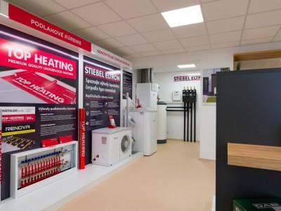 Showroom s tepelným čerpadlom a rekuperáciou